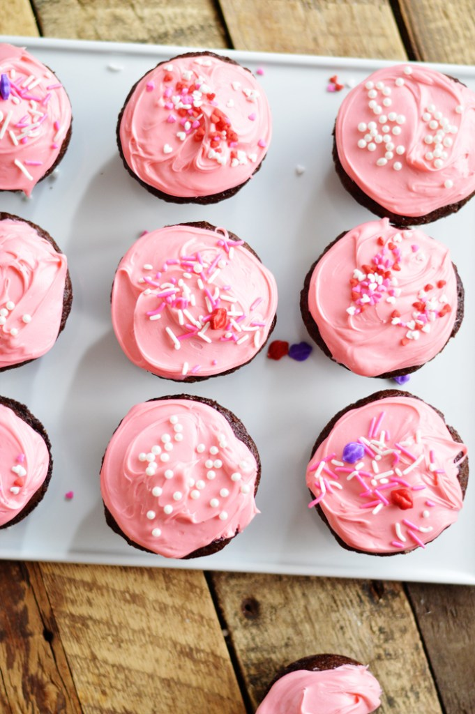 Cream Cheese Filled Cupcakes by  A Teaspoon of Home
