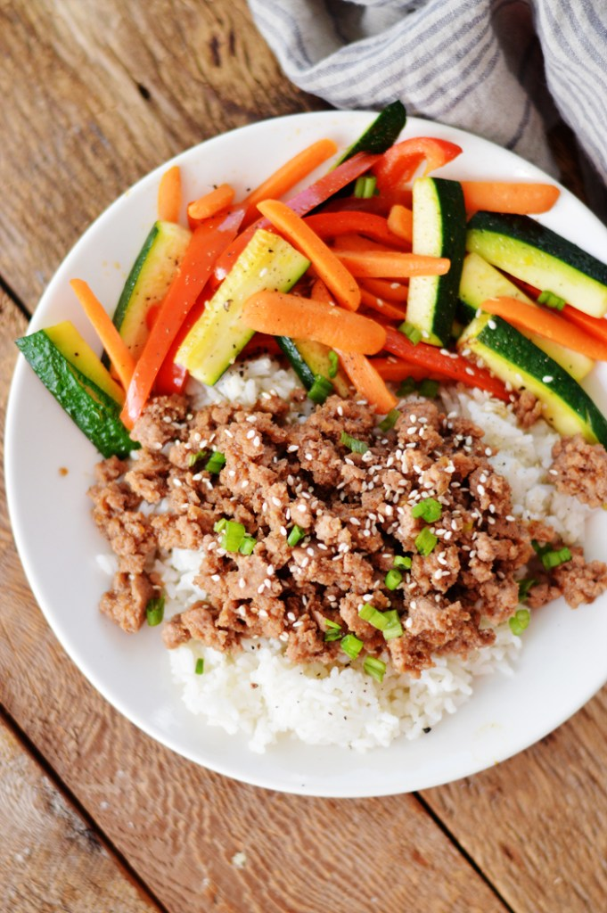 Korean Beef Bowls by A Teaspoon of Home