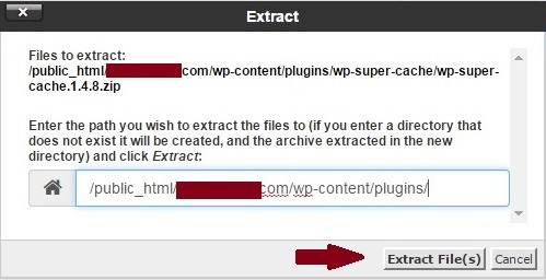 extract plugin files