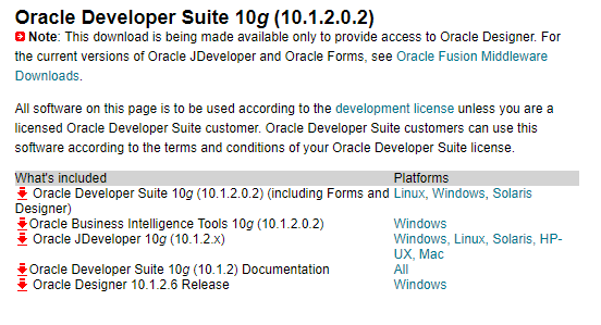 Oracle Developer Suite 10G Download