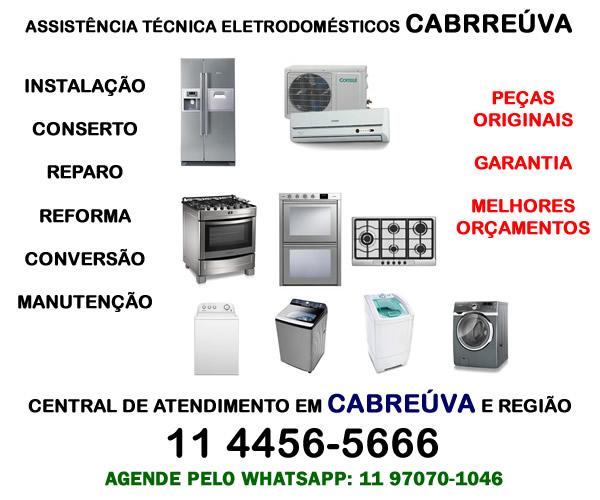 Assistência técnica eletrodomésticos Cabreúva