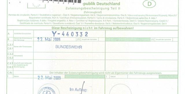 Y-440332 Bundeswehr registration | Atego4x4.com
