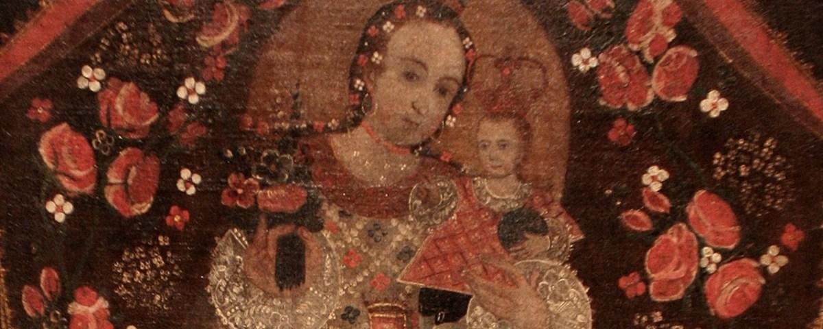 """Pintura Cusquenha: """"Virgem de Cocharcas (resumo)"""""""