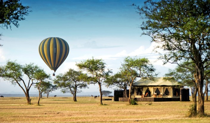 Hot air Balloon flight can be part of your Tailor Made Safari