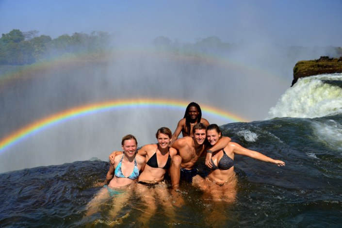 Zamibia Luxury Safari - Devils Pool at the Victoria Falls