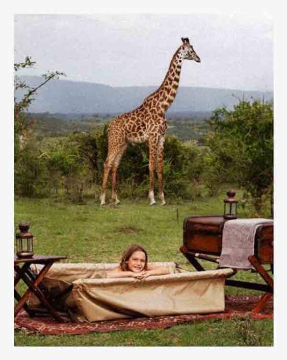 Bath in the Bush on Safari