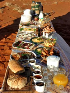 Champagne Breakfast at Ballooning in Namibia