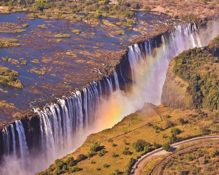Victoria Falls more dry
