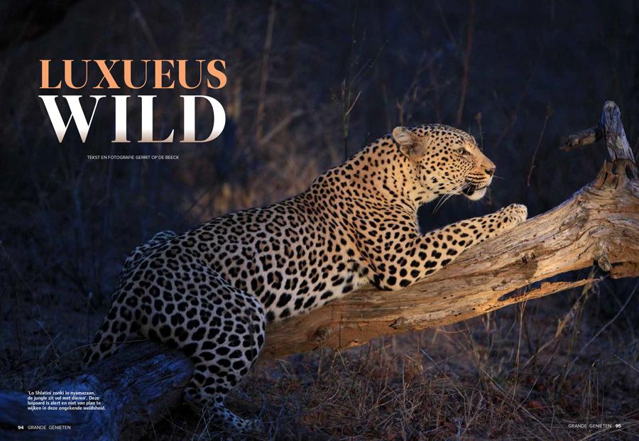 Grande Luxueus Wild - Safari in Zuid-Afrika - Door Gerrit Op de Beeck