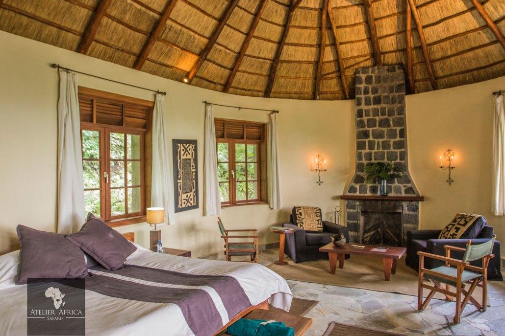 Congo Safari - Mikeno Lodge Room inside
