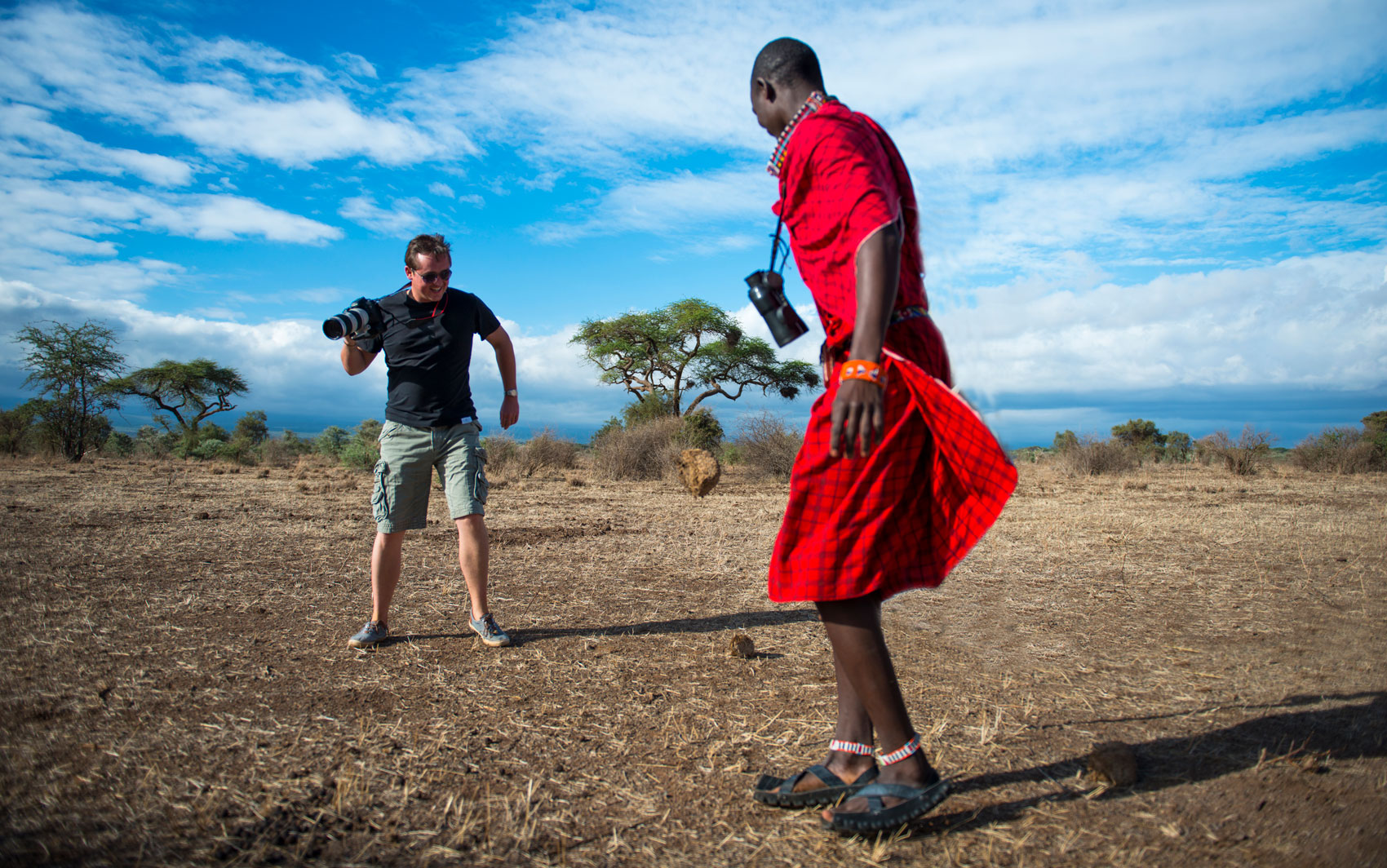 Timo Denys soccer with Maasai