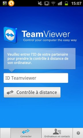 Application TeamViewer sur android