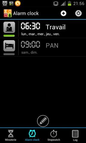 exemples d'alarmes pour être à l'heure