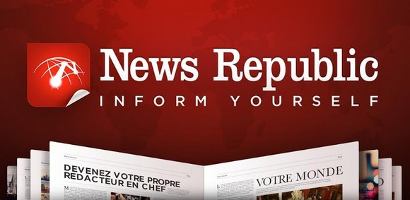 application d'information news republic pour android