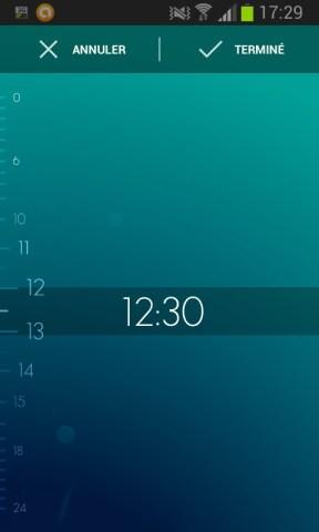 programmer une alarme avec Timely