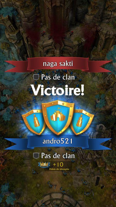 Victoire sur l'adversaire