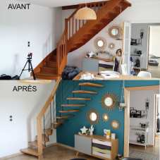 Rénovation escalier suspendu