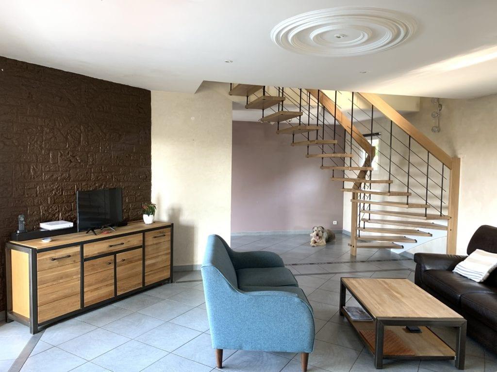 Escalier suspendu de l'Atelier du bois