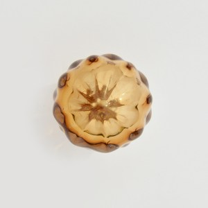 Bouton de tiroir Ravenne en verre soufflé ambre-Cabinet knob handblown glass