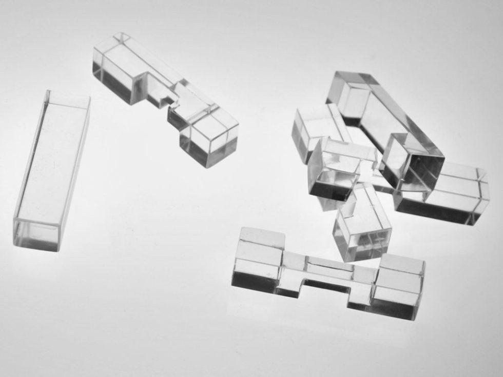 casse tête chinois cristal taillé pièces détachées