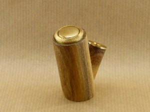 back side view of my electronic pipe worked in acacia