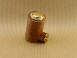 """left side view of my electronic pipe """"reverse poker"""" worked in briar wood"""