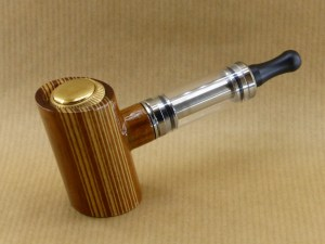 presentation of my vertical barcod electronic pipe with tilted poker shape and worked in walnut wood