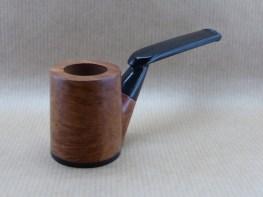 vue de face d'une pipe de la collection Horizons en bruyère et ébène