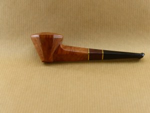 """left side view of my small briar pipe """"lady bulldog"""""""