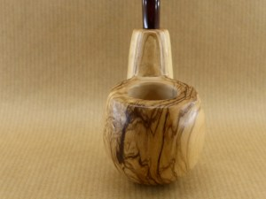 "front zoom of my olive wood pipe ""oom spoon"""