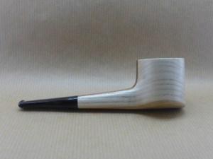 """pipe """"stripe poker"""" en châtaignier, vue de droite"""