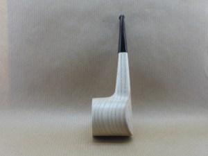 """""""stripe poker"""" chestnut wood pipe, left view"""