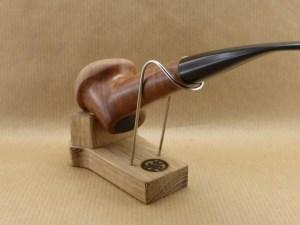 Support de pipe en Chêne et inox adapté à votre pipe