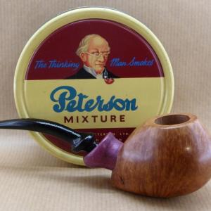 Beautiful briar tobacco pipe with Amarante wood shank.