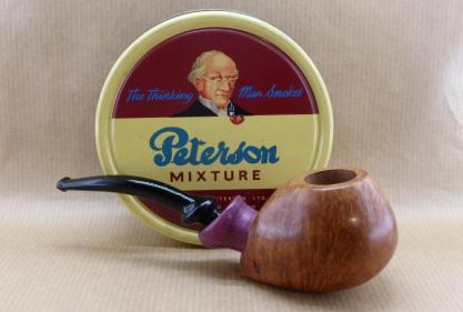 Beautiful briar tobacco pipe with Amarante wood shank.