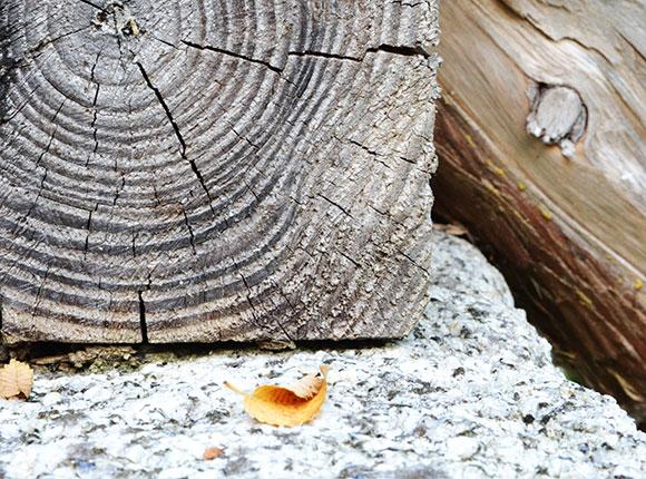 Terrasse ardoise et bois sur-mesure