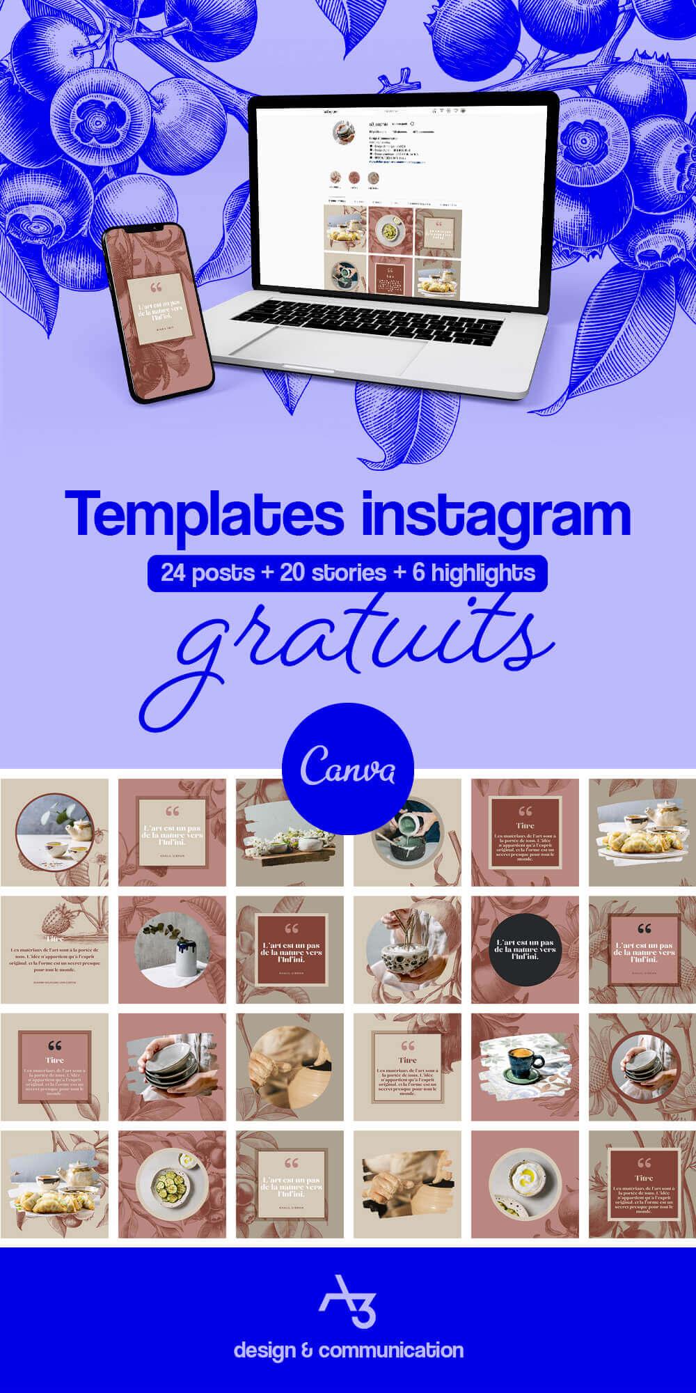Template instagram gratuit
