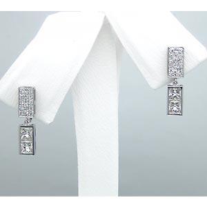 Pt900 ダイヤモンド イヤリング