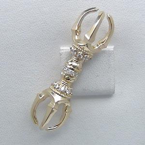 K18 ダイヤモンド ブローチ