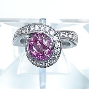 ピンクサファイア ダイヤモンド リング