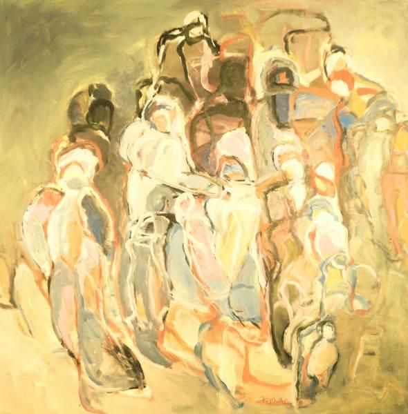 Gemeinsames Ziel, Acryl auf Leinwand, 80x80