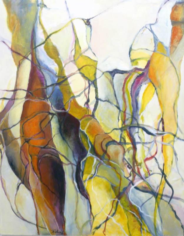 Lianen, Acryl auf Leinwand, 80x100