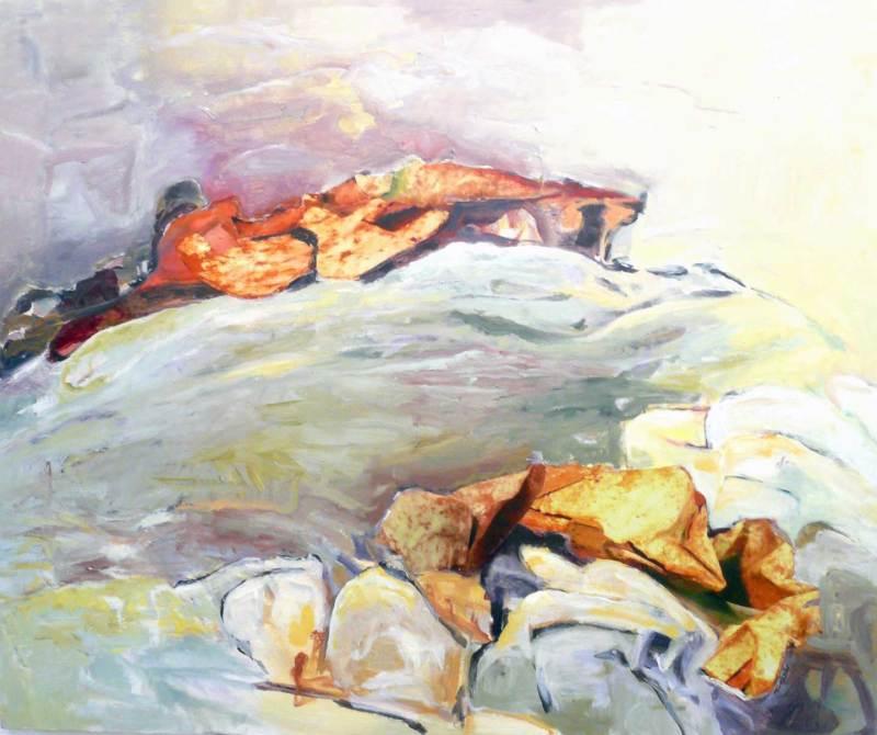 Fernes Land, Foto, Acryl auf Leinwand, 100x120