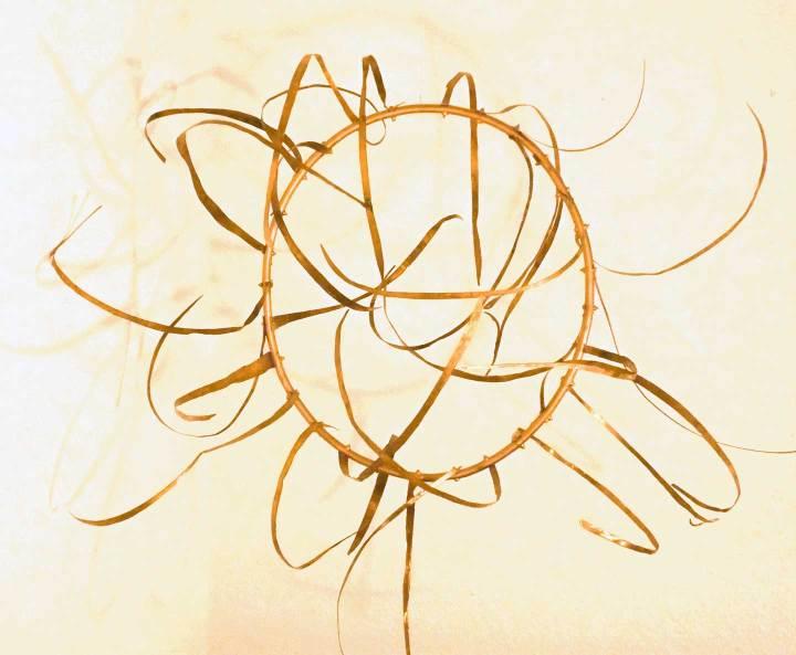 Sonnenrad, Kupfer, 70x70x50