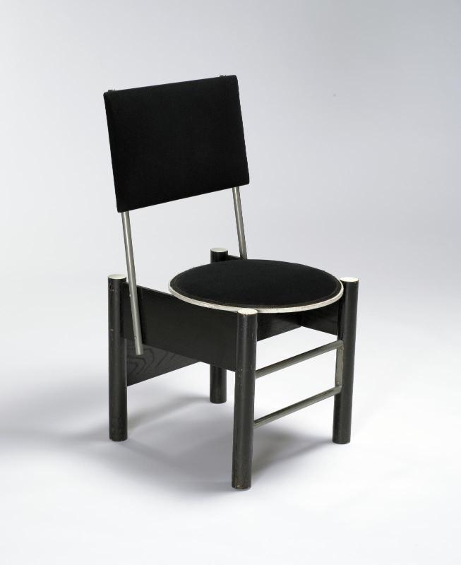 Marcel Breuer - 1926 Chaise bois laqué, tissu, tube d'acier nickelé