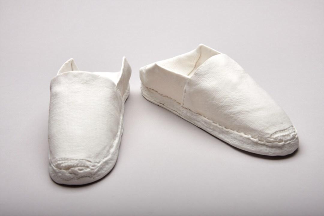 Espadrilles en porcelaine de Violaine Ulmer