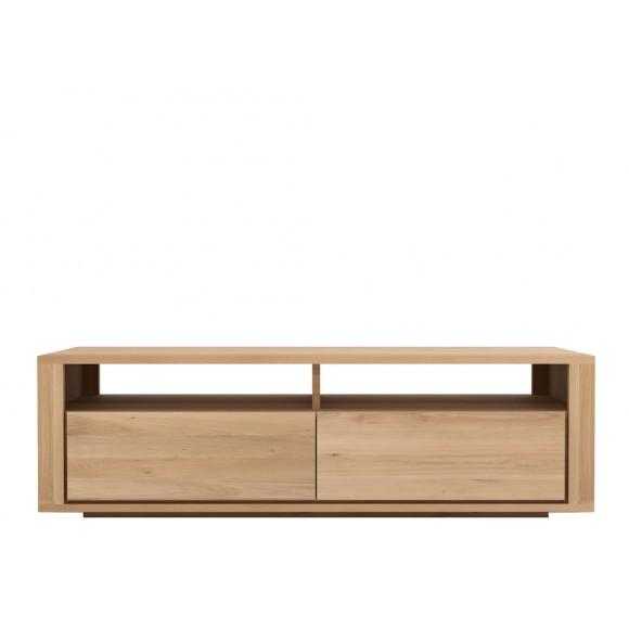 meuble tv chene massif shadow 2 tiroirs ethnicraft