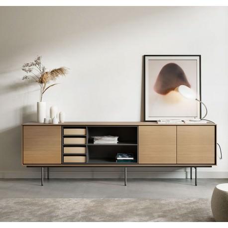 enfilade buffet meuble tv aura 244cm treku