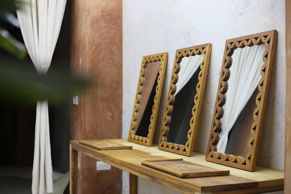 Saba Studio Meta Meta Mirrors and Saba trays