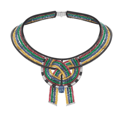 Chaumet Ronde de Pierres Inspired By Beaded_Necklaces_of Dinka People Sudan Maasai